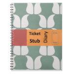 ticket stub diary notitieboeken