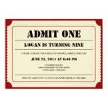 Ticket Stub Party Invitation Custom Invitations
