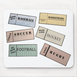 Ticket Stubs Mouse Pad