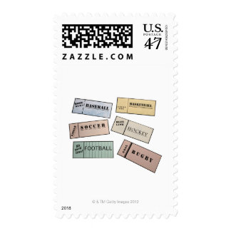 Ticket Stubs Postage Stamp