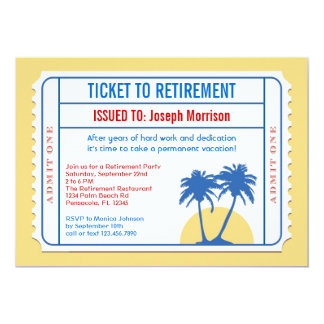 Ticket Style Retirement Invitation