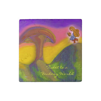 Ticket to a Fantasy World Stone Magnet