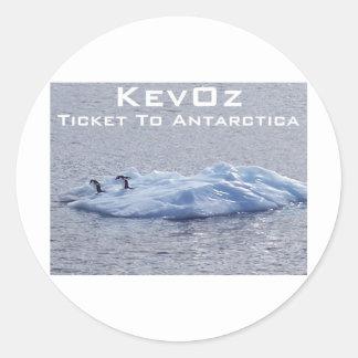 Ticket To Antarctica, by KevOz Classic Round Sticker