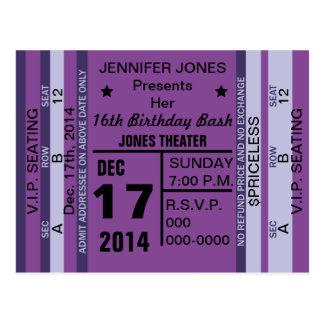Ticket To Fun Invitation Postcard