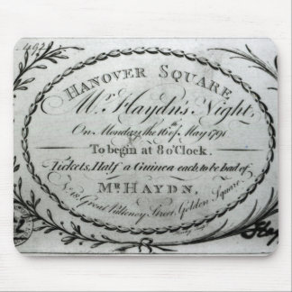 Ticket to 'Mr. Haydn's Night' in Hanover Mouse Pad
