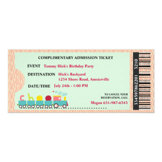 Ticket to Party Invitation