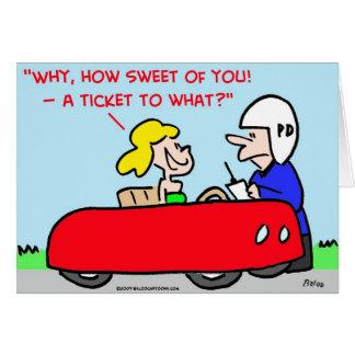 ticket to what cop speeder cards