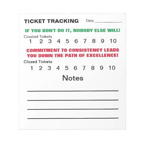 Ticket Track Pad