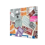 Tickets Stretched Canvas Prints