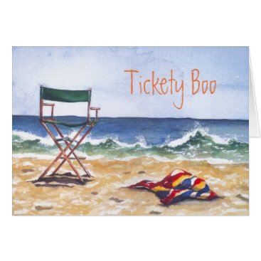 """Tickety Boo"" Greeting Card & envelope"