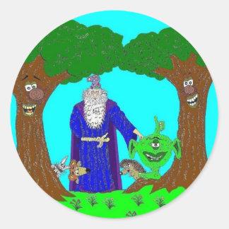 Tickety's Magic Wood Round Stickers