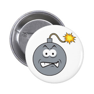 Ticking Bomb Smiley Face 2 Inch Round Button
