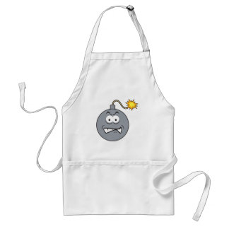Ticking Bomb Smiley Face Adult Apron