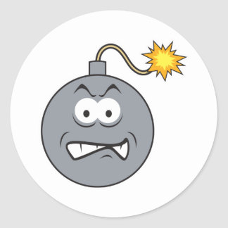Ticking Bomb Smiley Face Sticker
