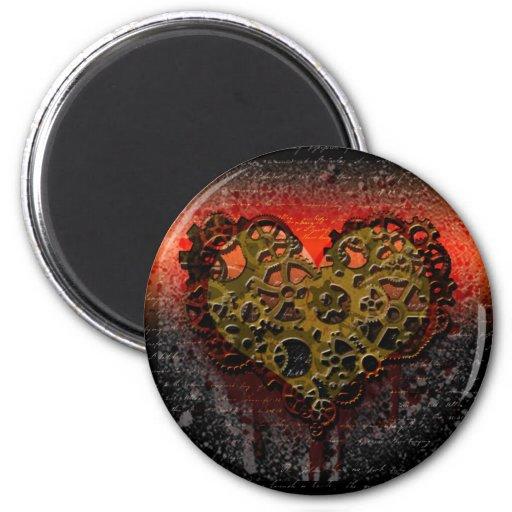 Ticking Heart 2 Inch Round Magnet
