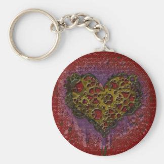 Ticking Heart Basic Round Button Keychain