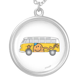 Tickle Bus Silver Plated Necklace
