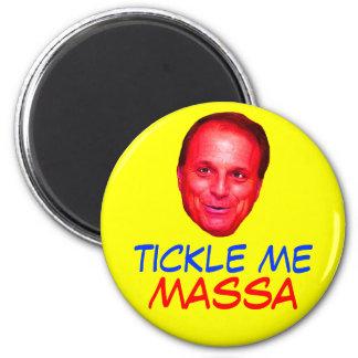 Tickle Me Massa 2 Inch Round Magnet