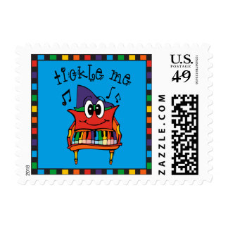Tickle Me Piano Postage Stamps