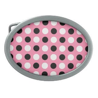 Tickle Me Pink Polka Dots Belt Buckle
