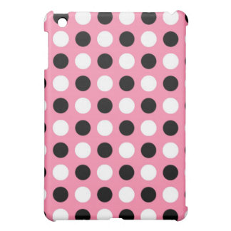 Tickle Me Pink Polka Dots iPad Mini Cover