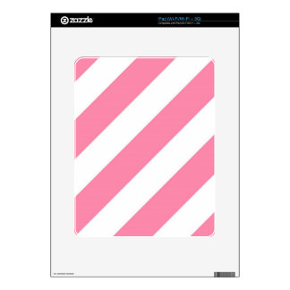 Tickle Me Pink Stripes Decal For The iPad