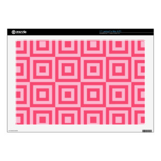 "Tickle Me Pink Tiles 17"" Laptop Decal"