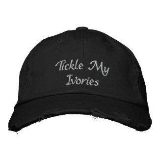 Tickle My Ivories Music Embroidered Baseball Cap