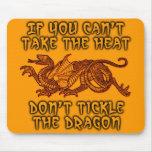 Tickle The Dragon Funny Mousepad Humor