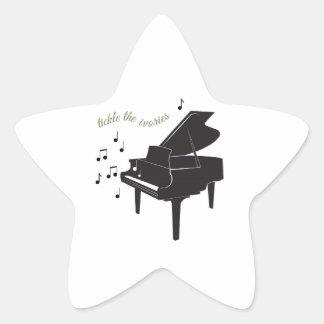 Tickle the Ivories Star Sticker