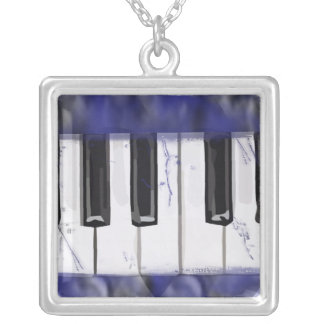 Tickle The Ivory Piano Silver Plated Necklace