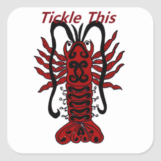 Tickle This Lobster Square Sticker