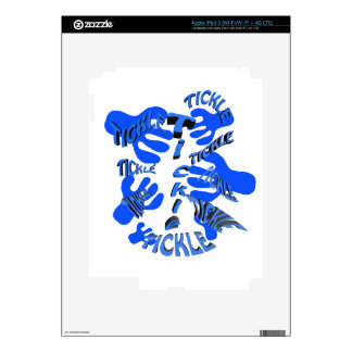 tickle tickle blue. skins for iPad 3