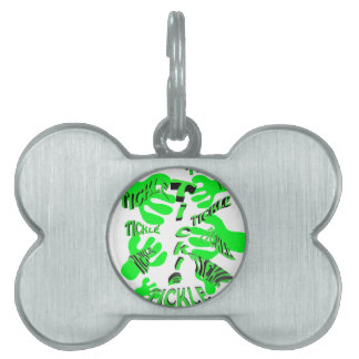tickle tickle green. pet ID tag