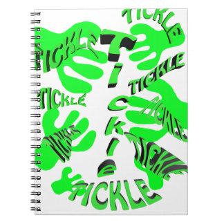 tickle tickle green. spiral notebook