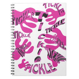 tickle tickle pink. spiral notebook