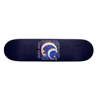 Tickled Fancy Pixel Art Faery Moon Skate Deck