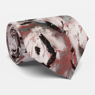 Tickled Pink Abstract Floral Tie