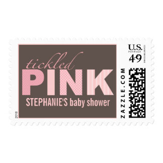 Tickled Pink Baby Girl Baby Shower Postage