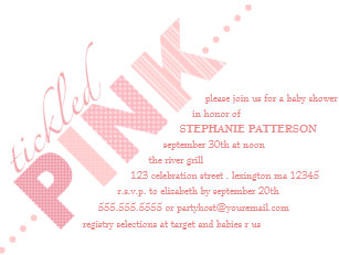 Tickled pink invitations zazzle tickled pink baby girl modern baby shower invitation filmwisefo