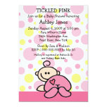 TICKLED PINK  Baby Girl Shower Invitations