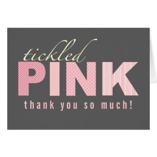 Tickled Pink Baby Girl Thank You Note Card