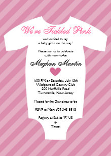 Tickled pink invitations zazzle tickled pink baby shower invitation filmwisefo
