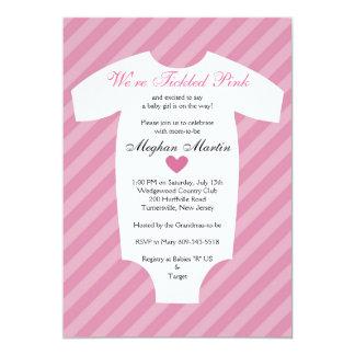 Tickled Pink Baby Shower Invitation