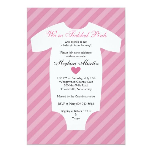 Tickled Pink Baby Shower Invitations for nice invitation sample