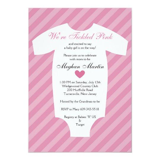 Tickled pink baby shower invitation zazzle tickled pink baby shower invitation filmwisefo