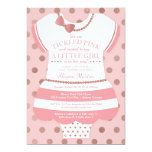 Tickled Pink Baby Shower Invitation, Faux Glitter Card