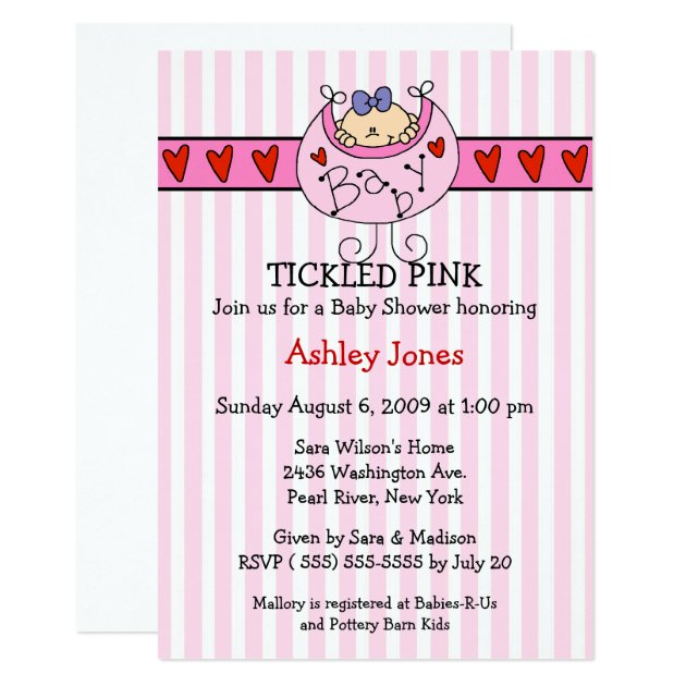 Tickled Pink Invitation is nice invitations layout