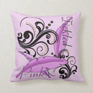 Tickled Pink Breast Cancer Remission Pillow