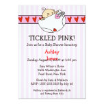 Tickled Pink Diaper Baby Girl Shower Invitations